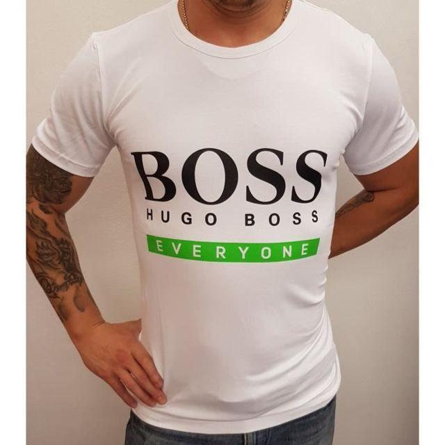 e70e51ad971 Hugo Boss - T-shirt 50369822 100 blanc - pas cher Achat   Vente Tee ...