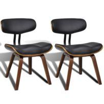Vidaxl - Chaise de salle à manger 2 pcs avec dossier Cuir synthétique    Multicolore 3bbf84b5e678