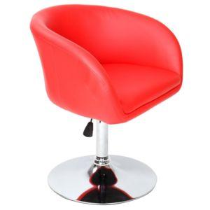 Helloshop26 fauteuil chaise si ge lounge design pivotant - Fauteuil pivotant rouge ...