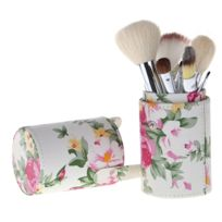 Wewoo - Seau stockage brosse maquillage cuir d'unité centrale fleur Rose taille moyenne