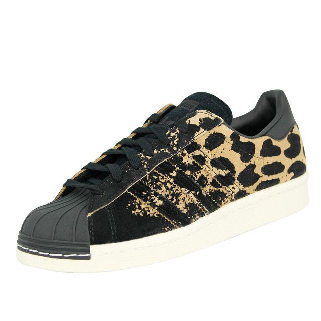 adidas superstar noir leopard