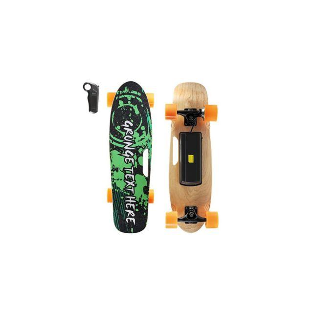 auto hightech skateboard lectrique pour enfants t l commande sans fil bluetooth 28 puces. Black Bedroom Furniture Sets. Home Design Ideas