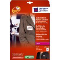 Avery - Zweckform L4784-20 Badges AdhÉSIFS AcÉTATE De Cellulose Pour CongrÈS, SÉMINAIRES, Conventions, Etc. 63,5 X 29,6 Mm 20 Feu