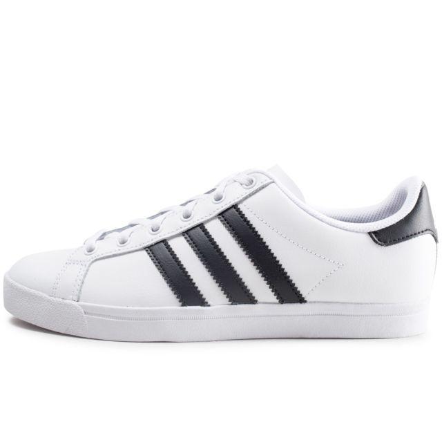 Adidas Coast Star Blanche Et Noire Junior pas cher Achat