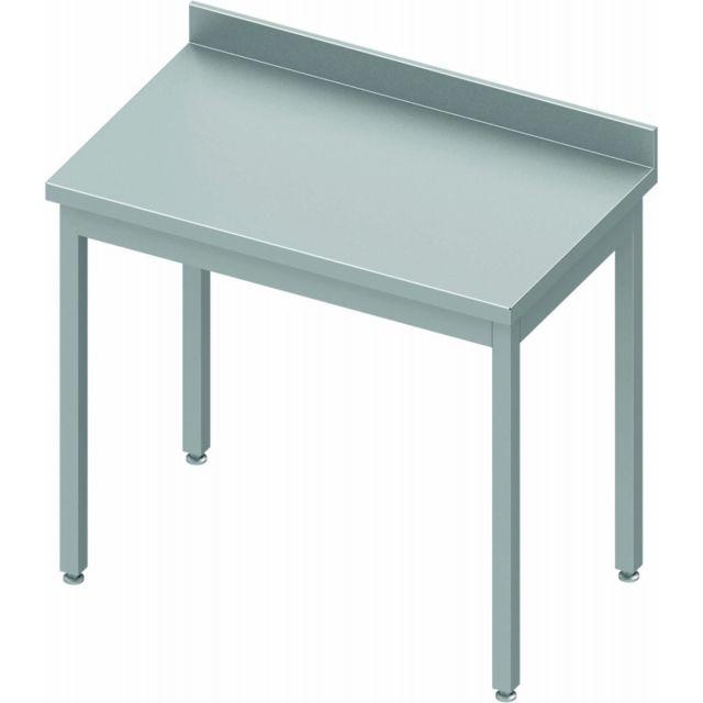 Materiel Chr Pro Table Inox Adossée - Profondeur 800 - Stalgast - inox 400x800 800 à monter