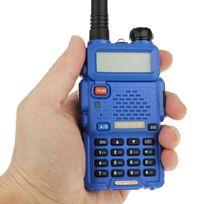 Yonis - Baofeng Uv-5R Talkie-walkie récepteur radio fréquence modulable Bleu