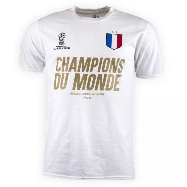 Tee Shirt Champions Du Monde Homme Blanc