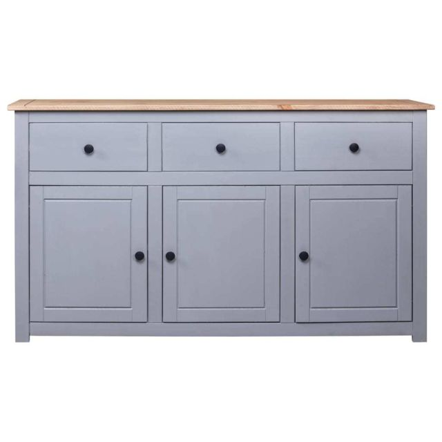Icaverne Buffets & bahuts categorie Buffet Gris 135x40x80 cm Pin solide Assortiment Panama