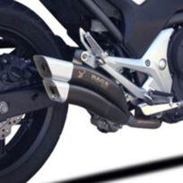 Ixrace - Honda Cb650 F + Cbr 650 F 2014 2016 ligne complète d'échappement pot double sortie Z7 Black homologué Qh6356B