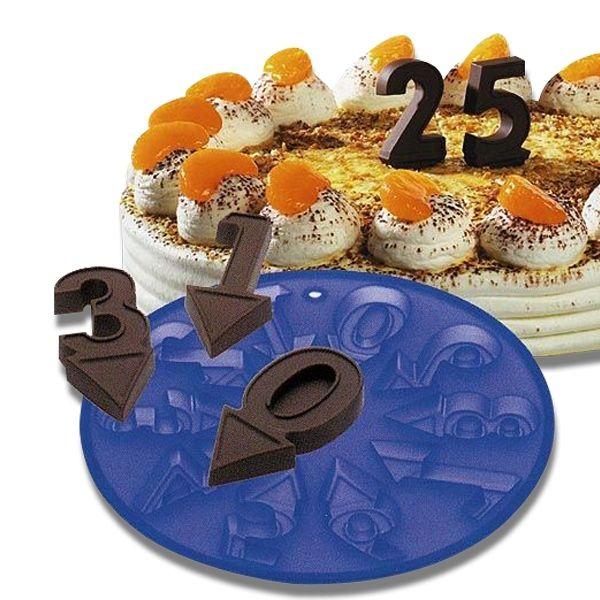 Totalcadeau Moule en silicone pour chocolat chiffres 0 à 9