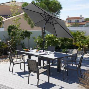 dcb garden salon jardin 6 places aluminium composite 6 fauteuils sunithala pas cher. Black Bedroom Furniture Sets. Home Design Ideas