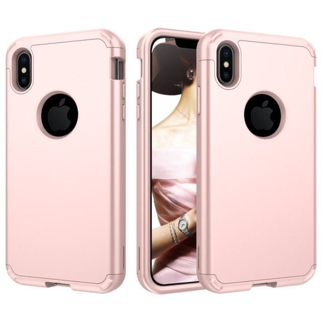 coque iphone xs max antichoc rose