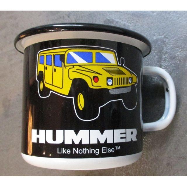 Universel Mug hummer h1 h2 h3 en email tasse à café emaillée 4x4