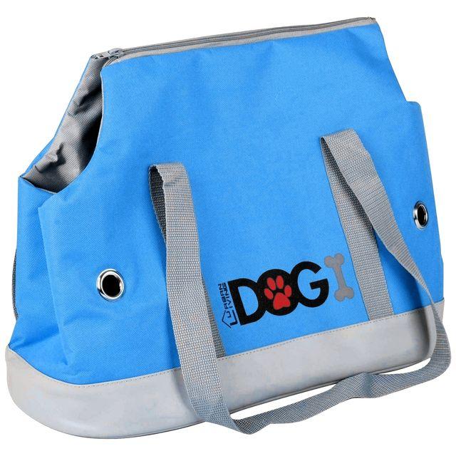 004278767a Promobo - Sac De Transport Et Voyage Pour Animaux Love Dog Chien Chat Bleu
