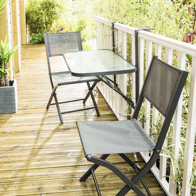 Wilsa ensemble balcon anthracite t2 c2 tables ensembles balcon gris