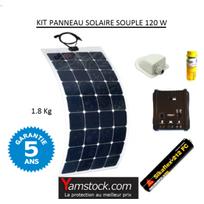 Antarion - Kit panneau solaire monocristallin souple 120w pour camping car