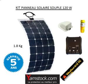 antarion kit panneau solaire monocristallin souple 120w. Black Bedroom Furniture Sets. Home Design Ideas