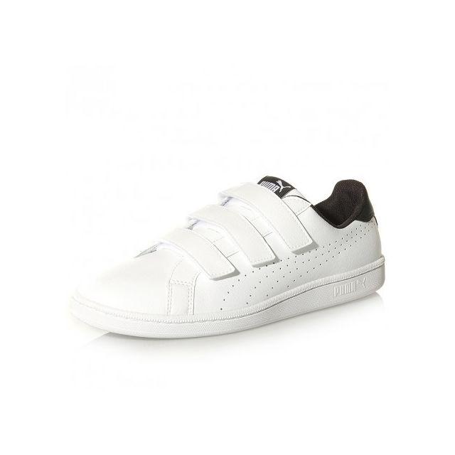 Smash Noir Homme Velcro Pas Chaussures Puma Blanc Cher Achat TK1JlFc