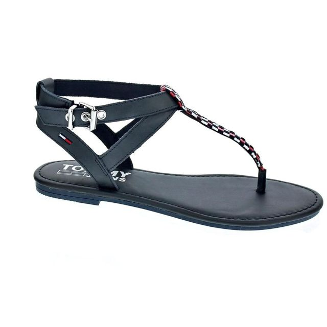13c0d533137f Tommy hilfiger - Chaussures Femme Sandales modele Flat Gingham - pas cher  Achat   Vente Sandales et tongs femme - RueDuCommerce