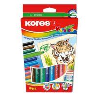 Kores - Feutre Coloriage Korello Etui De 10 Pte Large Assortis Fs29041
