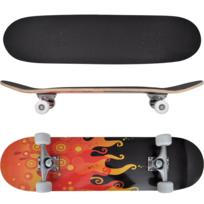 Vidaxl - Planche à Roulettes Skateboard 9 Couches Erable Design Flammes 8