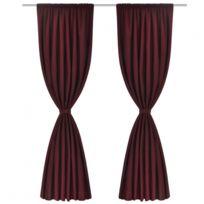 double rideaux rouge - Achat double rideaux rouge pas cher - Rue du ...