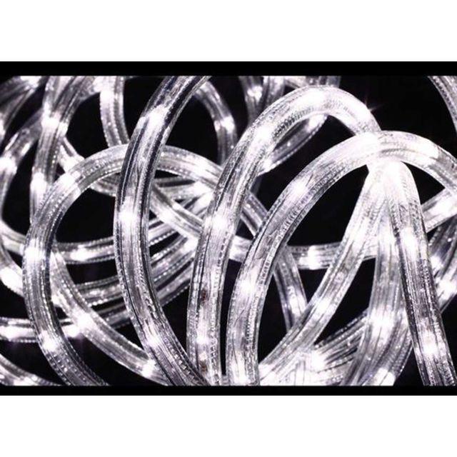 jardideco guirlande lumineuse ext rieur tube led 8 fonctions 6 m blanc pas cher achat. Black Bedroom Furniture Sets. Home Design Ideas