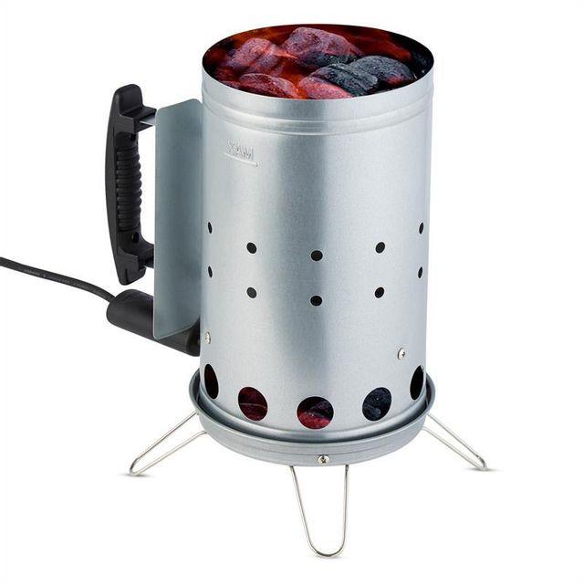 KLARSTEIN Fegefeuer Allume-charbon de bois électrique barbecue 350W - acier inox