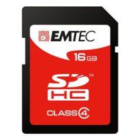 Emtec - Carte mémoire Sd 16 Go - classe 4