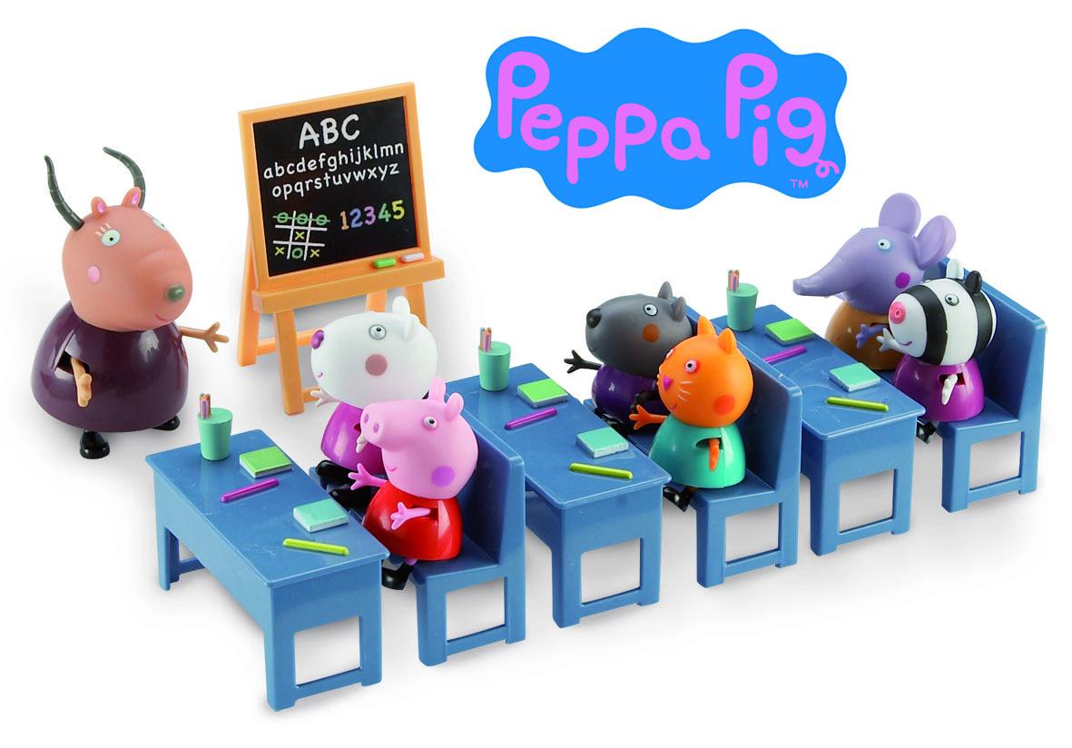 peppa pig serie salle de classe avec 7 personnages 4962 pas cher achat vente films et. Black Bedroom Furniture Sets. Home Design Ideas