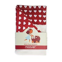 Moover - Mvpramredbedding - Literie Pour Poussette - Rouge