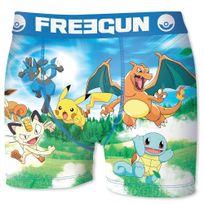 Pokémon - Freegun Boxer Homme Microfibre Tea Bleu Pokemon