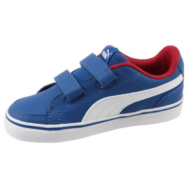 43a2676eae717 Puma - Court Point Vulc V2 V 362949-03 Bleu 21 - pas cher Achat   Vente  Baskets enfant - RueDuCommerce