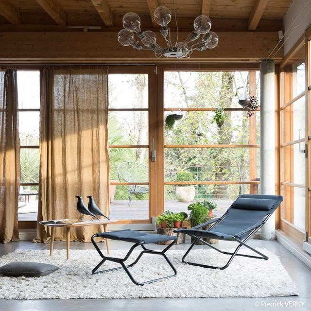 Lafuma Chilienne multiposition pliante en acier et toile Air Comfort Transabed - Gris Acier