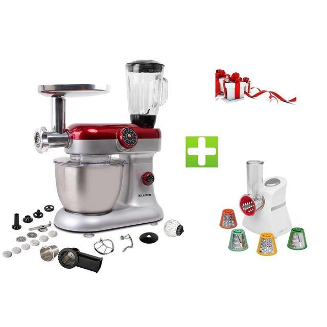 KLAISER Pack Robot Pétrin Pâtisser Multifonctions Kitchen MIX KM284MEX Professional avec Magic Hachoir Multi Express
