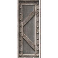 Open En Ville - Papier peint poutre métallique à treillis acier brossé Rouleau:5m