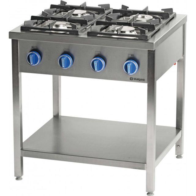 Materiel Chr Pro Cuisinière à Gaz sur Table Inox Série 900 - 6 Brûleurs - Stalgast - 36,5 kW 900