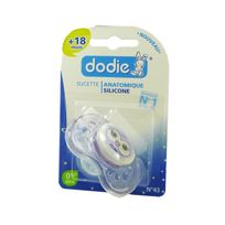 Dodie - Sucette Nuit Anatomique Silicone +18 Mois A43
