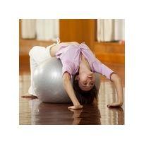 """Sun & Sia - Le ballon de Yoga, aussi appelé """"Ballon suisse"""" ou """"Gym ball"""" est un accessoires pluridisciplinaire indispensable pour vos séances de yoga, fitness, remise en forme.Couleur Argent"""