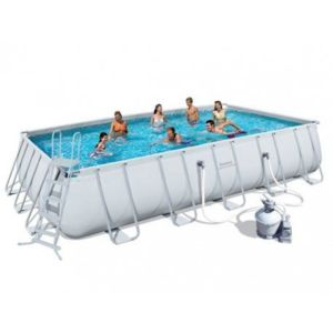 Agreable BESTWAY   Piscine Tubulaire Rectangulaire 5,49 X 2,74 X 1,22
