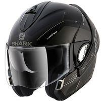 Shark - casque intégral modulable en jet Evoline 3 Hataum Kaw moto scooter noir gris mat Xl