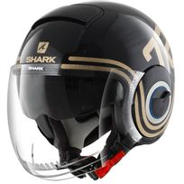 casque jet moto scooter Nano 72 Kqx noir marron brillant Xs