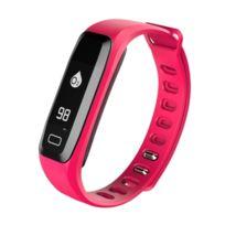 Yonis - Bracelet Cardio Android iPhone Montre Connecté Sport Waterproof Rose