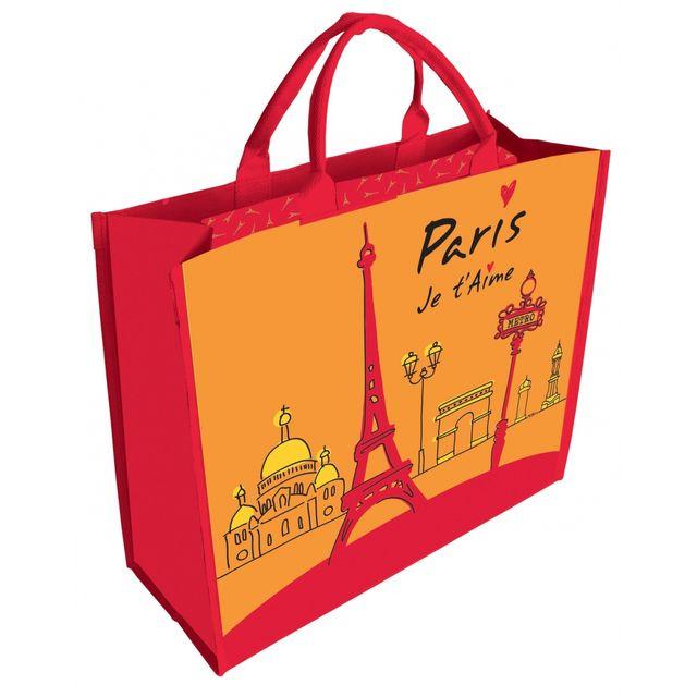 b5ab3bb296 Incidence - Cabas de course - Paris je t'aime - pas cher Achat ...