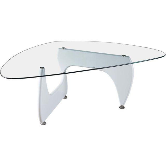 HABITAT ET JARDIN Table basse Tara - 120 x 70.5 x 41 cm - Blanc laqué