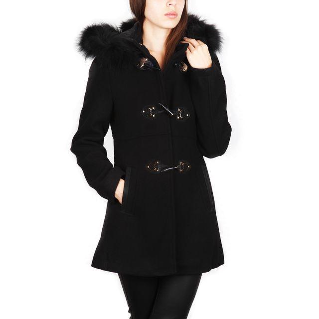 Super manteau laine fourrure femme - Achat manteau laine fourrure femme  NK29