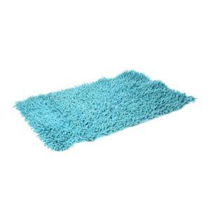 Jja tapis salle de bain chenille turquoise pas cher for Tapis de cuisine turquoise
