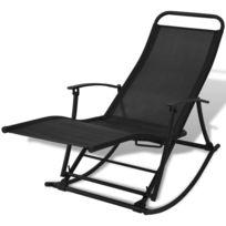 À Pliable Chaise De Noir Jardin Bascule 34SRq5cALj