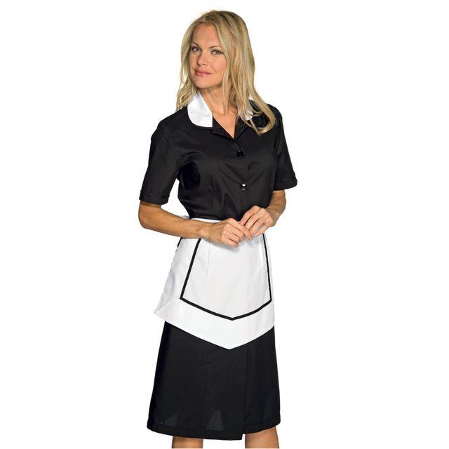 isacco blouse et tablier femme de chambre manches courtes noir blanc pas cher achat. Black Bedroom Furniture Sets. Home Design Ideas