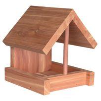Trixie - Natura mangeoire en bois de cedre - 16x15x13 cm - Naturel - Pour oiseaux